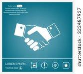 icon of handshake sign. | Shutterstock .eps vector #322487927