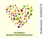 world vegetarian day vector | Shutterstock .eps vector #322502273