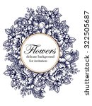 vintage delicate invitation... | Shutterstock .eps vector #322505687