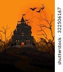 illustration of spooky haunted... | Shutterstock .eps vector #322506167