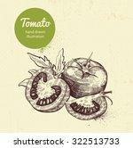tomato vector illustration | Shutterstock .eps vector #322513733