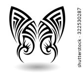 hand drawn tribal tattoo in...   Shutterstock . vector #322530287