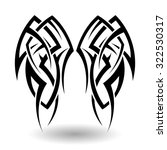 hand drawn tribal tattoo in... | Shutterstock . vector #322530317