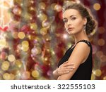 people  holidays  jewelry and... | Shutterstock . vector #322555103