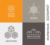vector set of logo design... | Shutterstock .eps vector #322564937