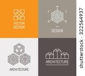 vector set of logo design... | Shutterstock .eps vector #322564937