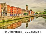 view of dublin with the river... | Shutterstock . vector #322565357