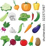 cartoon vegetables | Shutterstock .eps vector #322571987