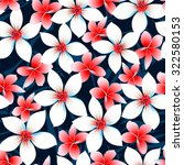 red white and blue tropical... | Shutterstock . vector #322580153