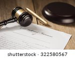 last will and testament form... | Shutterstock . vector #322580567