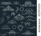 vintage set decor elements.... | Shutterstock .eps vector #322591523
