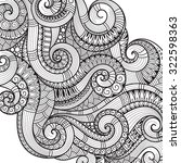 pattern for coloring book.... | Shutterstock .eps vector #322598363