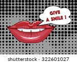 mouth and speech bubble  pop... | Shutterstock .eps vector #322601027