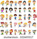 collection of happy children