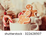 cup of hot cocoa drink with... | Shutterstock . vector #322628507