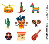 set of traditional mexican... | Shutterstock .eps vector #322647167