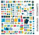 mega set infographics flat... | Shutterstock .eps vector #322666073