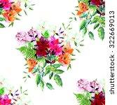 beautiful bouquet seamless... | Shutterstock . vector #322669013