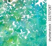 green watercolor texture leaves ... | Shutterstock . vector #322707287