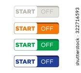 website button set flat design | Shutterstock .eps vector #322716593