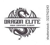 dragon logo dragon vector logo... | Shutterstock .eps vector #322742243