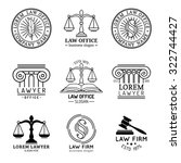 law office logos set with... | Shutterstock .eps vector #322744427