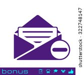 remove mail icon | Shutterstock .eps vector #322748147