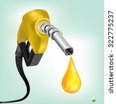 gasoline fuel nozzle giving a... | Shutterstock .eps vector #322775237