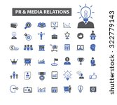 pr  public relations and media  ... | Shutterstock .eps vector #322779143