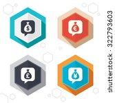 hexagon buttons. money bag... | Shutterstock .eps vector #322793603