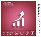 vector growing graph icon   Shutterstock .eps vector #322797797