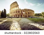 colosseum in rome and morning... | Shutterstock . vector #322802063
