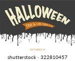 halloween text banner | Shutterstock .eps vector #322810457