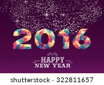 happy new year greeting card or ... | Shutterstock .eps vector #322811657
