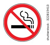no smoking sign. a sign showing ... | Shutterstock .eps vector #322815413