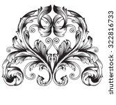 calligraphic design elements ... | Shutterstock .eps vector #322816733