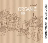 organic shop concept with... | Shutterstock .eps vector #322817003
