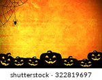 halloween background idea... | Shutterstock . vector #322819697