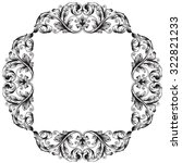 vintage baroque frame scroll... | Shutterstock .eps vector #322821233