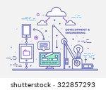 flat style  thin line art... | Shutterstock .eps vector #322857293