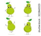 pear. cute fruit vector...   Shutterstock .eps vector #322860323