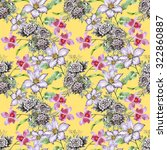 seamless pattern with colorful... | Shutterstock . vector #322860887