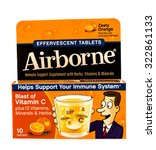 Small photo of Winneconne, WI -1 Oct 2015: Box of Airborne effervescent tablets
