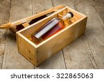 bottle of liquor aged fine... | Shutterstock . vector #322865063