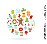 illustration christmas colorful ... | Shutterstock . vector #322871147