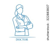 medical woman doctor icon | Shutterstock .eps vector #322883837
