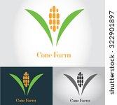 cone farm vector logo template | Shutterstock .eps vector #322901897