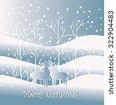 snow winter landscape with two... | Shutterstock .eps vector #322904483