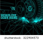 durability speed tyre design... | Shutterstock .eps vector #322904573