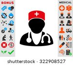 physician vector icon. style is ... | Shutterstock .eps vector #322908527
